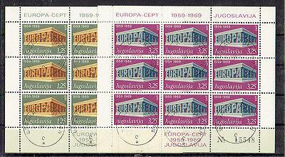 Jugoslawien O Minr 1361-1362 I Kb Cept Europa Kleinbogen PüNktliches Timing Europa