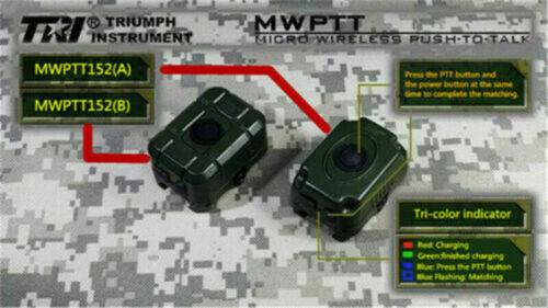 TRI PRC-152//148 MWPTT Micro Wireless für Funksprechgeräte mit Remote-PTT-Schnitt