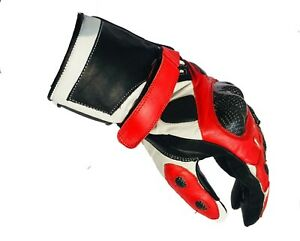 Motorbike-Motorcycle-Cowhide-Leather-Gloves-Carbon-Knuckles-Protection