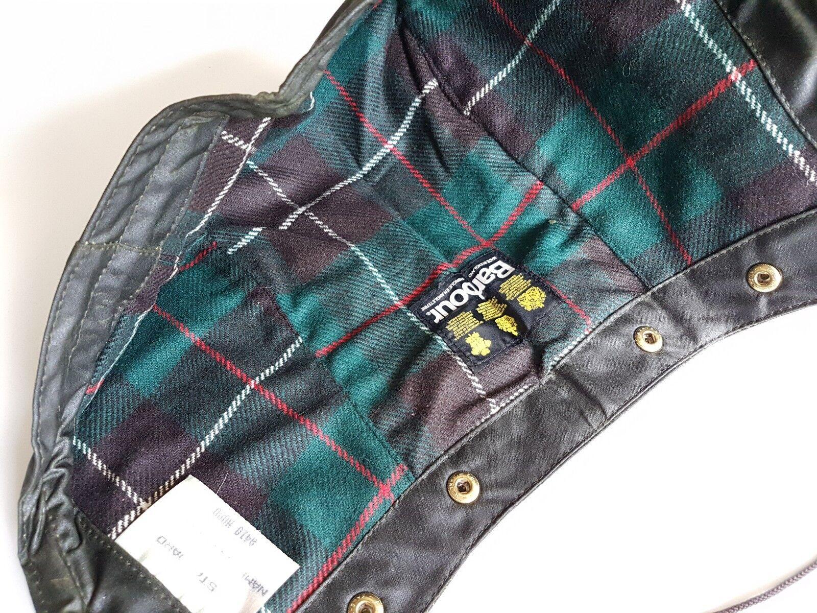 NUOVO Barbour vintage cotone PARAFFINATO CAPPUCCIO VERDE nn. da S 80 S da Made in England RARO d9b35e