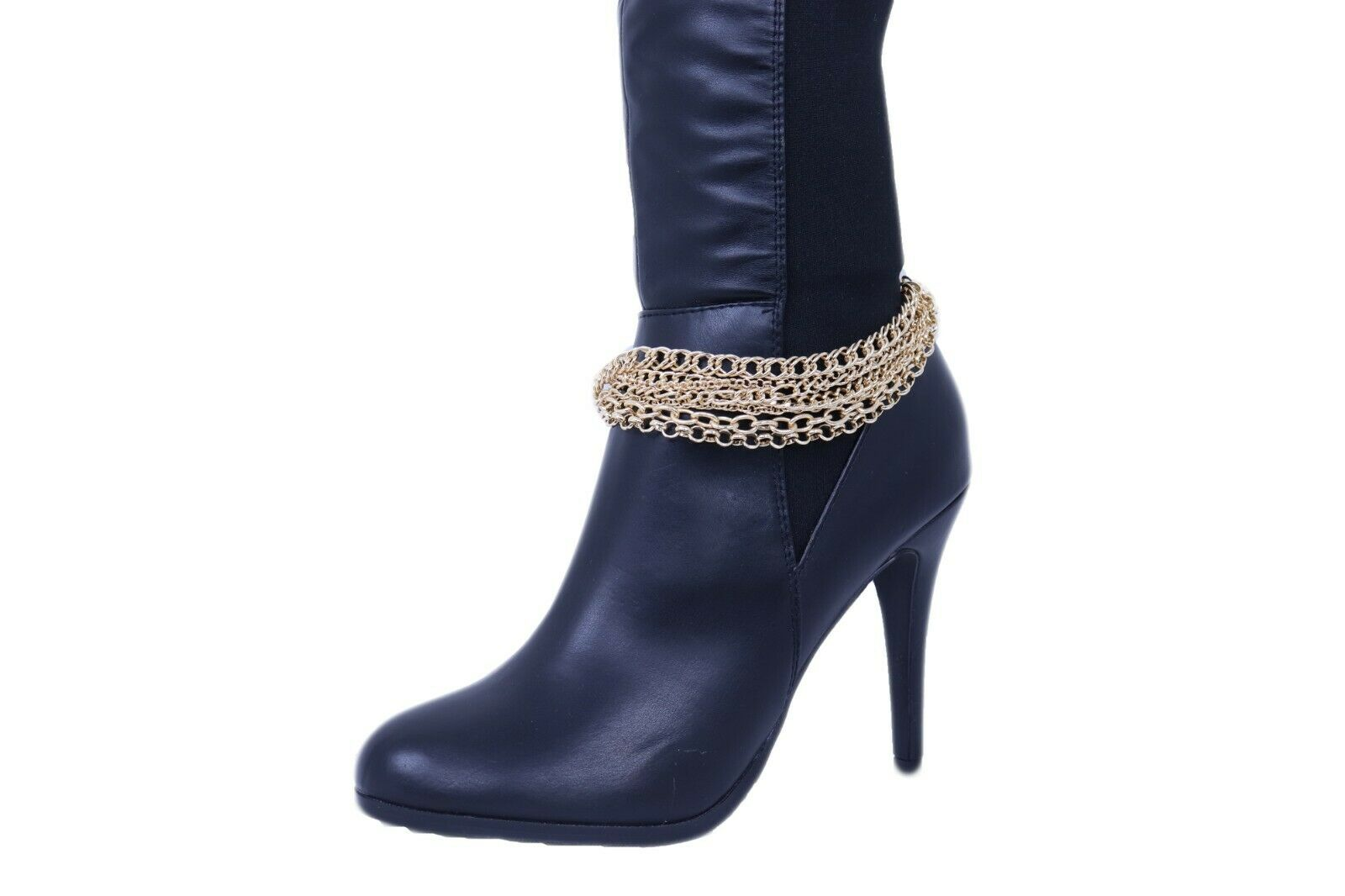 Sexy Women Gold Color Metal Boot Chain Bracelet Western Shoe Charm Jewelry Waves