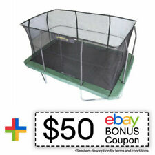 Jumpking JK1015RC3 10 x 15-Foot Rectangular Trampoline and Enclosure Net Combo