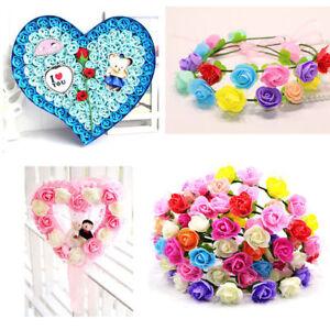 Schaum-Rose-Heads-Kuenstliche-Blumen-Nice-Hochzeit-Braut-Hand-Blume-Nett