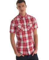 New Mens Superdry Washbasket Shirt Bermuda Check Red WOW