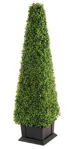 Large 120cm Tall Artificial Potted Tree Boxwood Tower ...