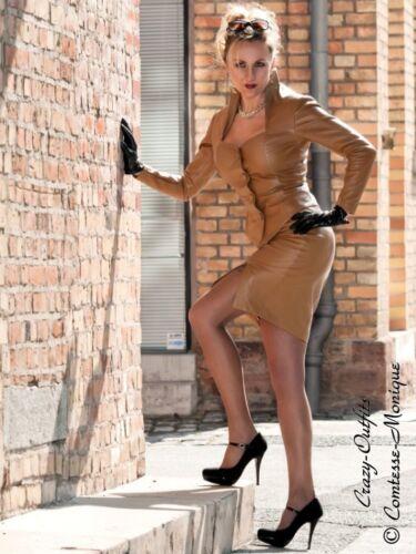 Schlitz Größe style Xxxl Lederrock Leder Rock 32 58 Business Camel Xs 7wxtSgH