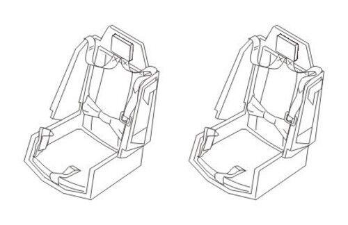 Seats for Academy kit CMK 129-Q72133 1//72 AH-64A