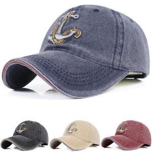 Hot-Men-039-s-Baseball-Cap-Women-Snapback-Hats-Embroidery-Adjustable-Anchor-Hat-Caps