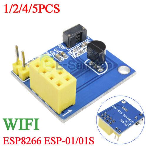 1//2//5//5x ESP8266 ESP-01//01S DS18B20 Temperature Sensor Module WiFi Adapter Board