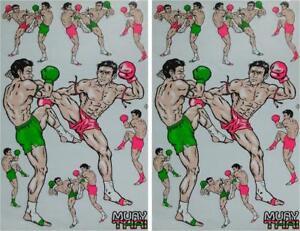 Badge Patch Dorsal Muay Thai Big Size Iron-On