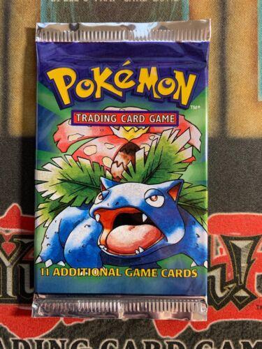 Pokemon VENUSAUR Art Base Set 1996 Factory Sealed Booster Pack