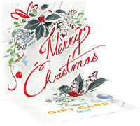 Merry Christmas - Up With Paper Pop-up Christmas Gift Card Holder