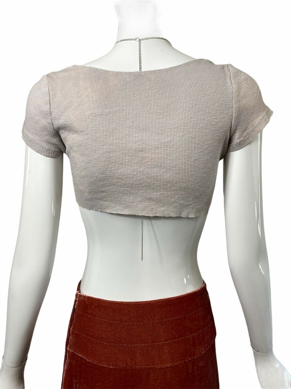 Fairycore Grunge Ribbed Crop Top Y2k 90s Aesthetic - image 4