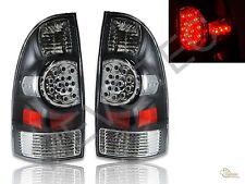 2005-2008 Toyota Tacoma Pickup Black LED Tail Lights Lamps RH & LH