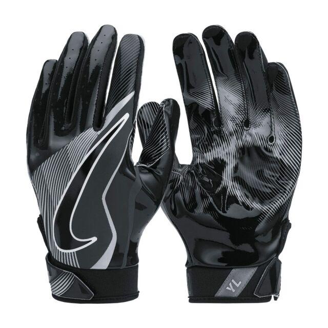 Nike Vapor Jet 4 Receiver Gloves Black Gf0498 011 Youth Size Large