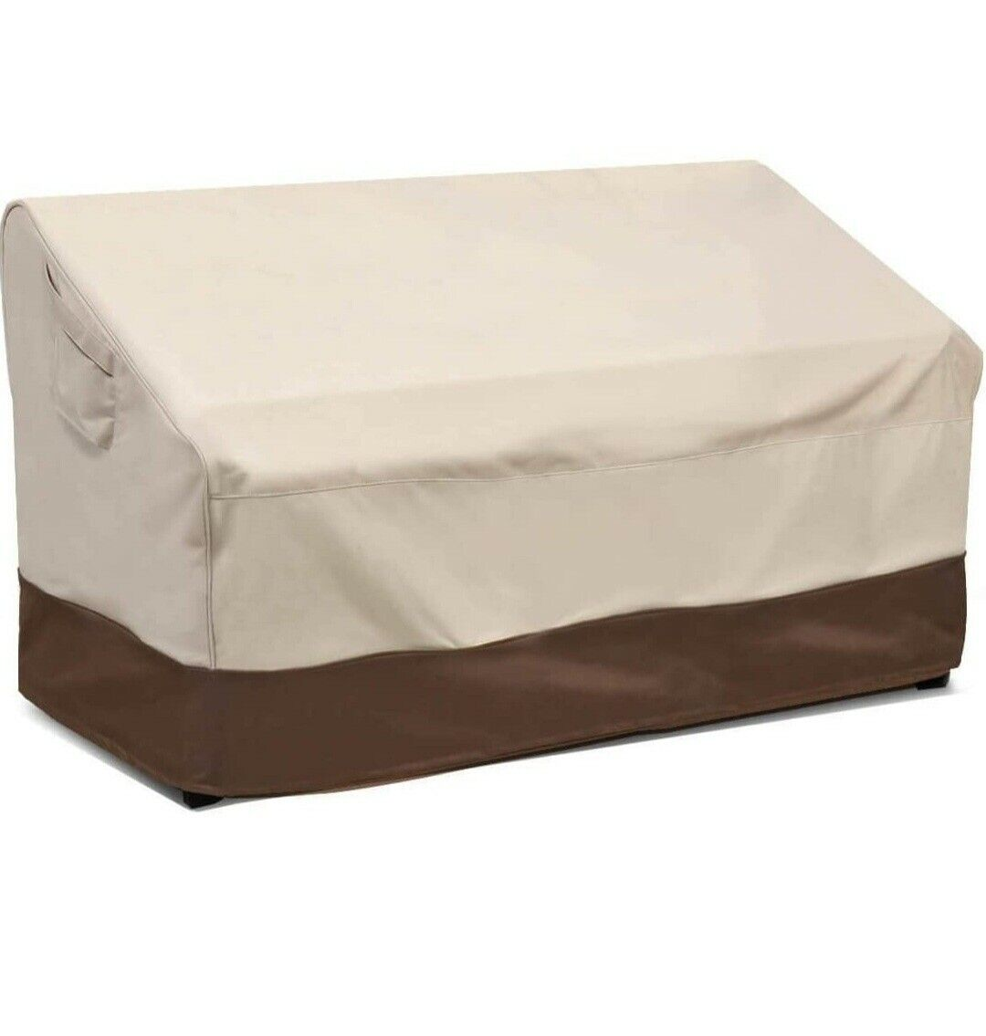 Heavy Duty and Waterproof Outdoor Lawn Patio Furniture Covers Lounge Deep Seat Cover 2 Pack - Small, Beige /& Brown Vailge Patio Chair Covers
