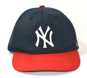 346e27acc26cf New York Yankee 47 Brand Baseball Youth Blue Cap Hat with Red Brim ...