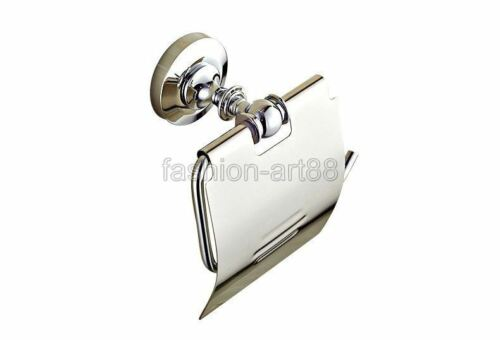 Bathroom Wall Mounted Polished Chrome Brass Toilet Paper Roll Holder fba804
