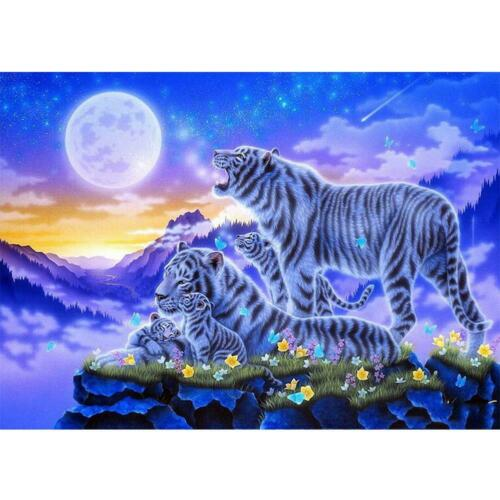 5D hágalo usted mismo Taladro Diamante Pintura Tigre Completo Kit de Bordado de Punto de Cruz Arte C Nuevo