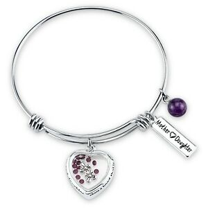 Women-039-s-Stainless-Steel-Mother-and-Daughter-Share-a-Bond-That-039-s-Forever-Bracelet