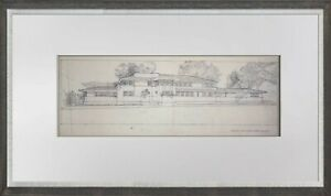 Frank Lloyd WRIGHT Lithograph #'ed LIMITED ~Heath House, Buffalo, NY w/Frame