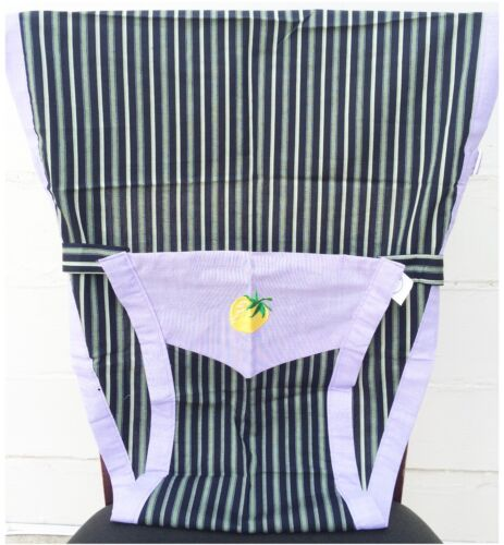 Blue green Stripes New Portable Baby Chair//High Chair Harness