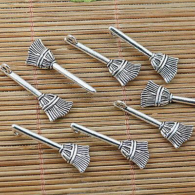 16pcs Tibetan silver besom charms EF1803