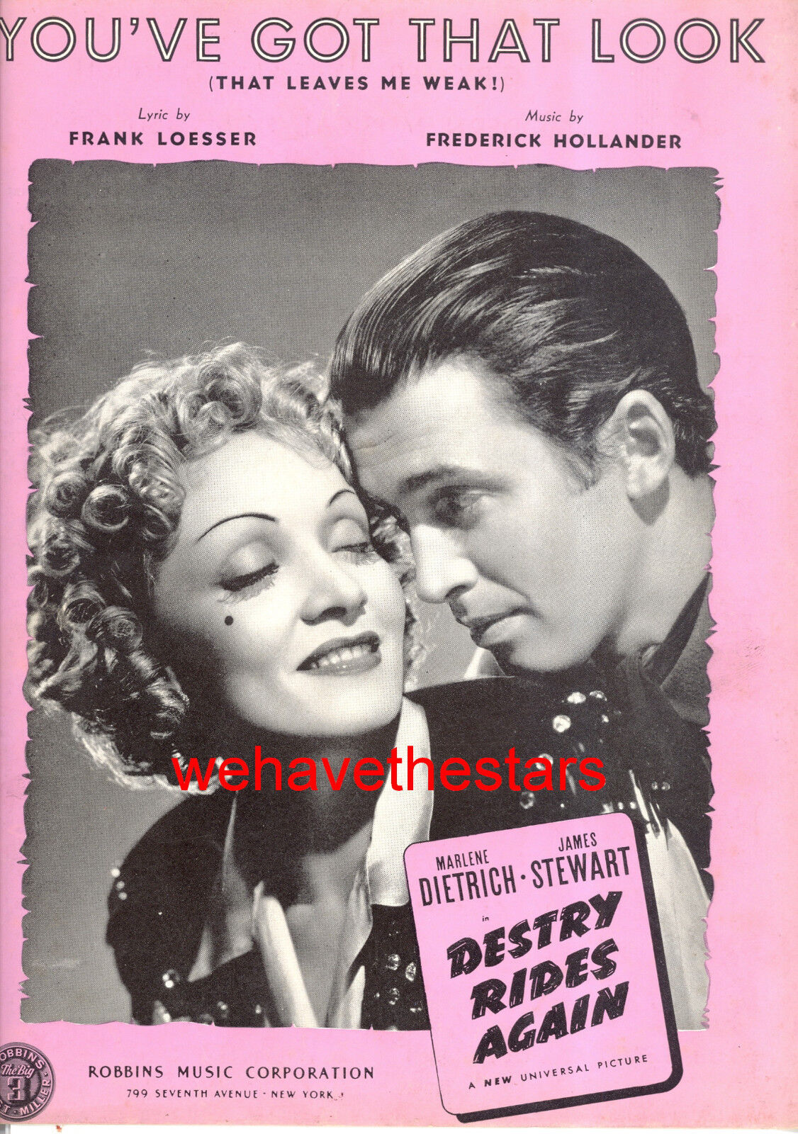 Destry Rides Again   You'Ve Got That Optik   Marlene Dietrich James Stewart