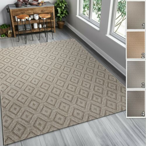 TAPISO Outdoor Indoor Rugs for Kitchen Patio Dining Room 6mm Pile Sisal Like