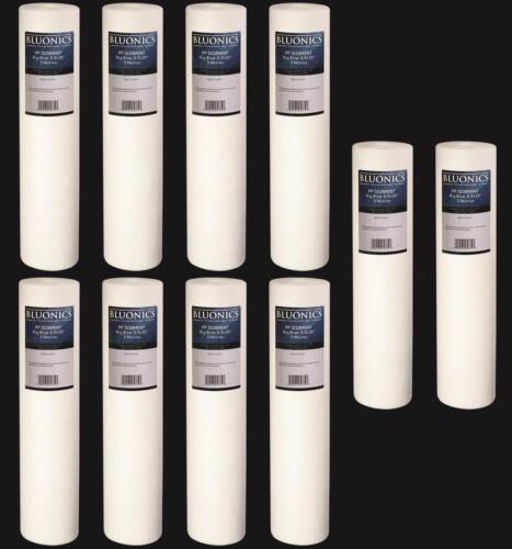 """des sédiments maison tout entière Filtres à Eau Fer rouille 10-PK Big Blue 20 x 4.5/"""" 5 Micron"""