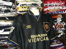 MANCHESTER UNITED away 1993-95 shirt -CANTONA #7-France-Leeds-Umbro-Jersey (L)