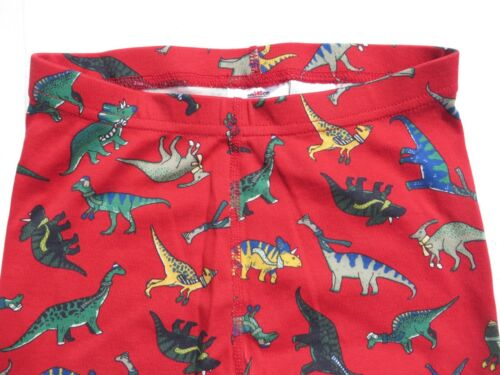 Hanna Andersson 140 160 Boys Pajamas Long John Organic Cotton NEW Red Dino 10 14