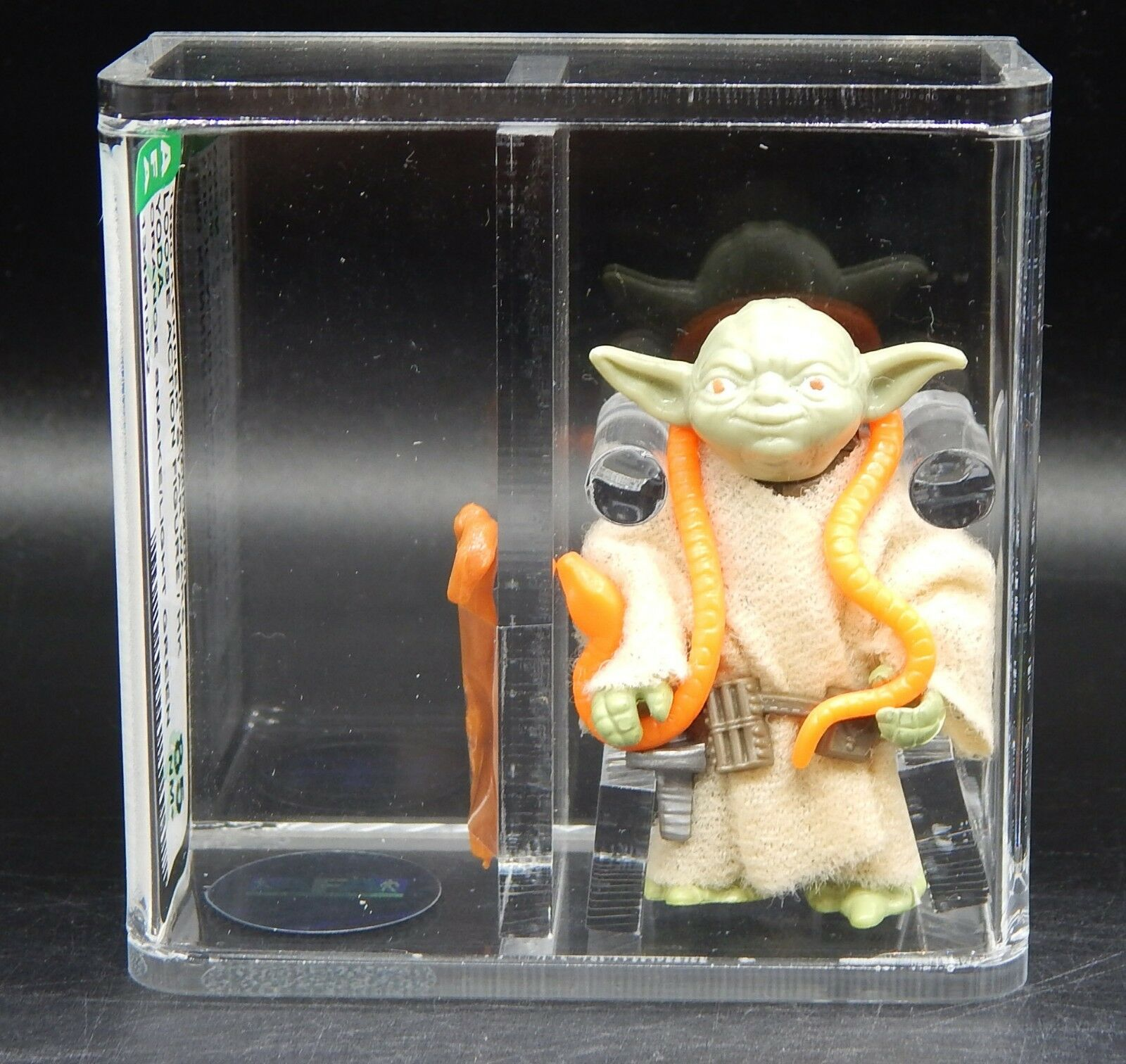 AFA 85 vintage Star Wars YODA Kenner action figure HK coo orange snake lt. green