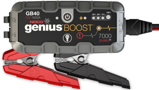 AVVIATORE JUMP STARTERS BATTERIA LITIO NOCO GENIUS GB40,1000 AMPERE 12V,USB,LED