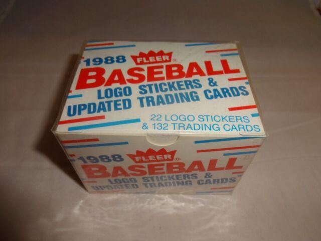 1988 Fleer Update Baseball Card Factory Set 1 Thru 132 With Stickers