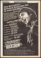 PAUL McCARTNEY & WINGS - ROCKSHOW__Original 1981 Trade AD promo / poster_concert