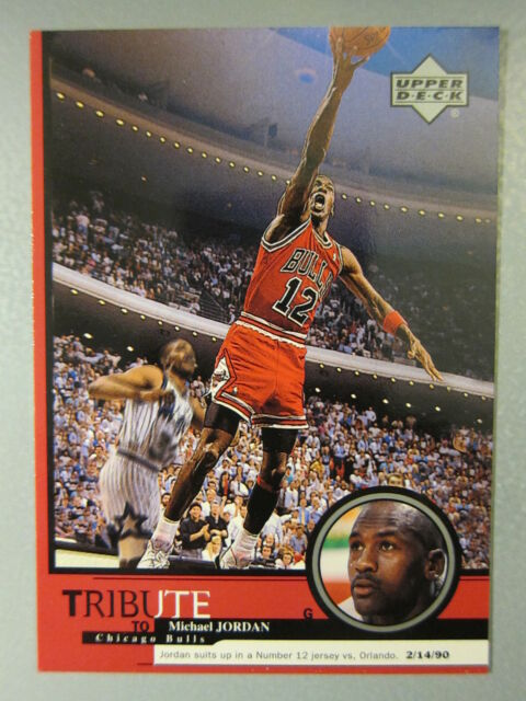 new concept 74cc7 48332 *WOW* Michael Jordan Card wearing JERSEY #12 (Upper Deck) *RARE*