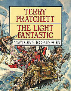TERRY-PRATCHETT-THE-LIGHT-FANTASTIC-AUDIO-CASSETTE-X2-Read-by-Tony-Robinson