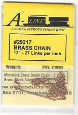 "Brass Chain Aline #29217 - 12"", 27 Links Per Inch - H0, S & N Scale"