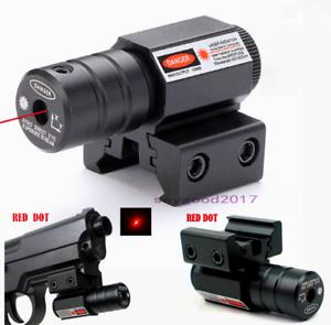 Pistol Gun Rifle Green Red Dot Laser Beam Sight Scope For 11//20mm Weaver Rails