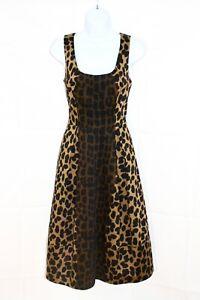 HOBBs-Animal-Print-Fit-amp-Flare-Occasion-Dress-Uk-12