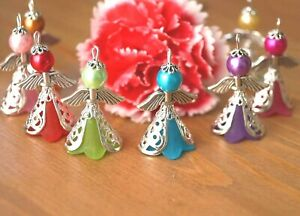 KIT-20-Mix-Angel-Charms-Pendants-Frosted-Flower-Beads-Wings-COLOURS-MAY-VARY
