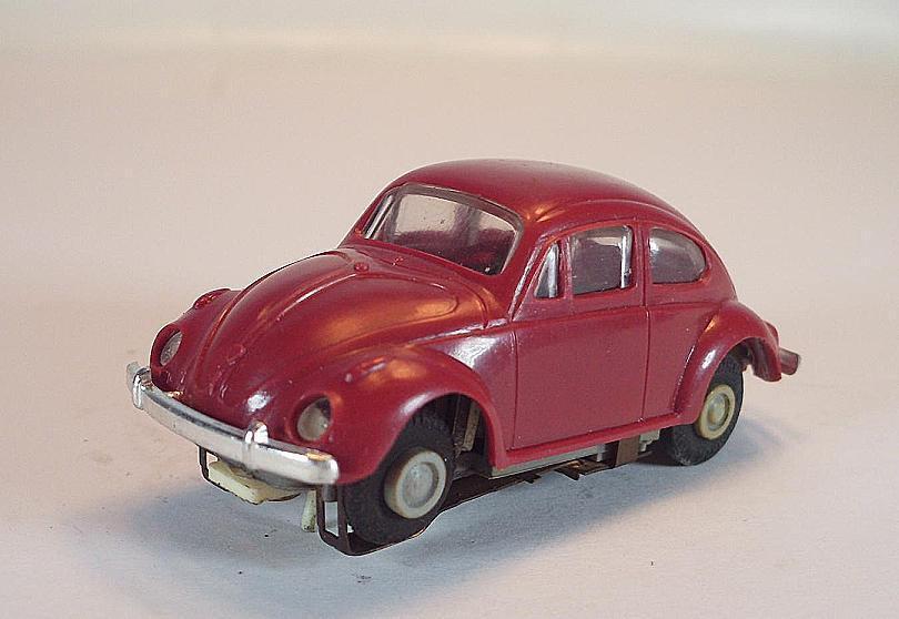 Slot Car Faller AMS Nr. 4833 VW-Käfer rot Typ 2 graue Felgen Blockmotor  583
