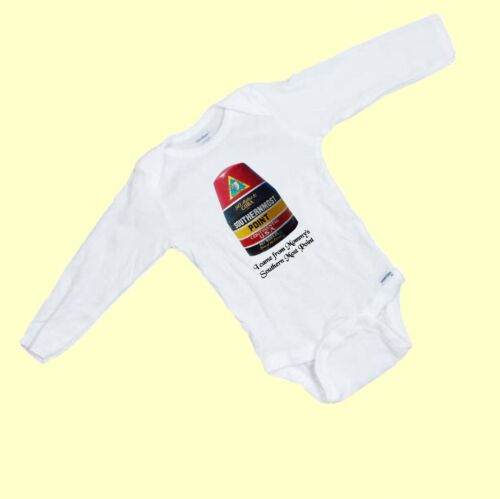 """Key West Funny /""""I came from Mommy/'s Southern most Point/""""  LONG SLEEVE  Onesie"""