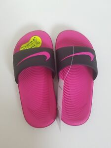 1034b4820aa8 Image is loading New-Nike-Kawa-Kid-Girls-Slide-Sandals-Black-