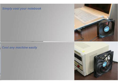 "Titan TFD-12025SL05Z RB 120mm x 25mm 5V USB Fan /""Cool Anywhere/"" Plug-n Play"