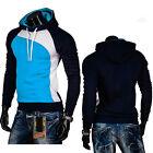 Men's Slim Jumper Sweater Hoodie Sweatshirt Winter Hoody Jacket Zip Coat Outwear