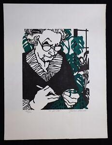 2019 Nouveau Style Barbara Alvarado (1942) Bois Gravé Couleur Kansas City Apparence EsthéTique