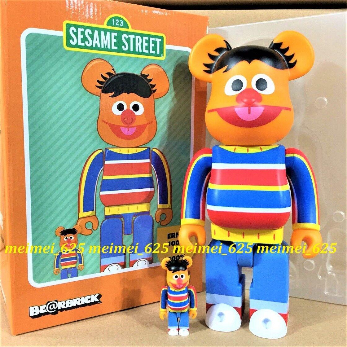 Bearbrick Medicom 2019 Sesame Street  Ernie 100% 400% conjunto Be@rbrick