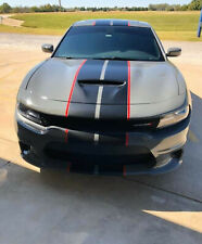 2 Color 10 Twin Rally Stripes Fit 2009 Up Dodge Charger Fdc3m Vinyl